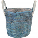 Plant basket Solero, D23cm, H21cm, sea gray